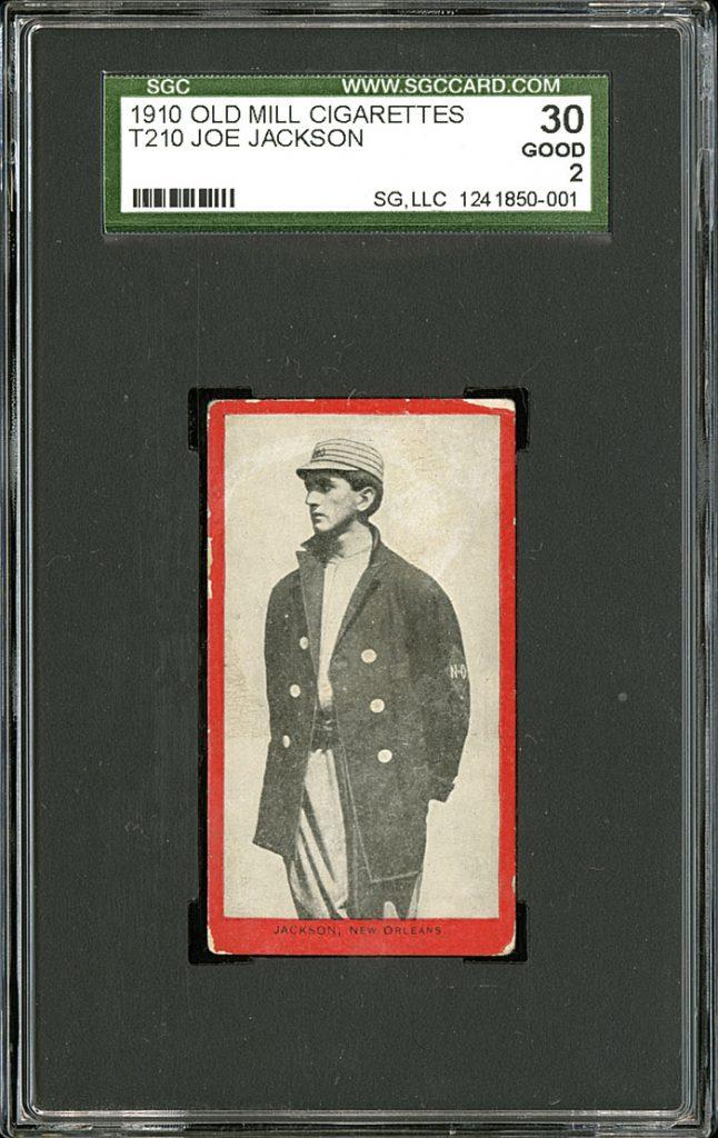 Joe Jackson 1910 Old Mill tobacco card