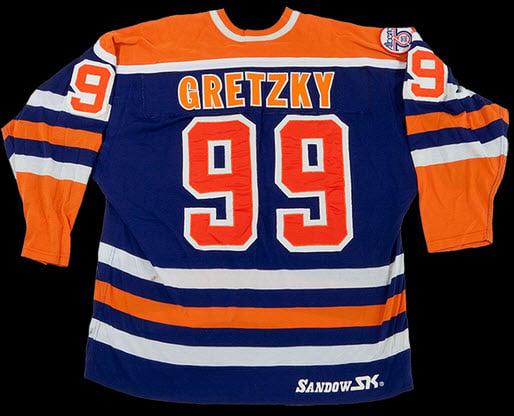 Edmonton Oilers Gretzky game worn jersey
