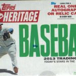Topps Heritage Baseball 2013 unopened box