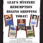 Leaf Johnny Manziel cards promotion sheet