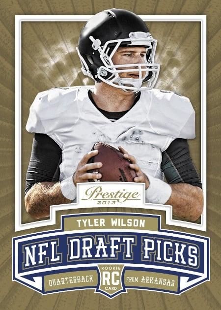 Tyler Wilson NFL Draft Picks 2013 football card