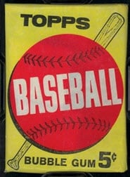 1963 Topps baseball pack