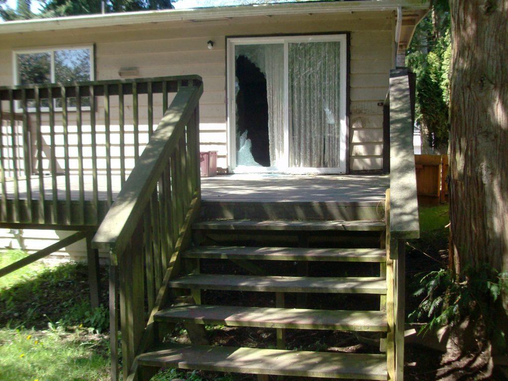 broken patio door