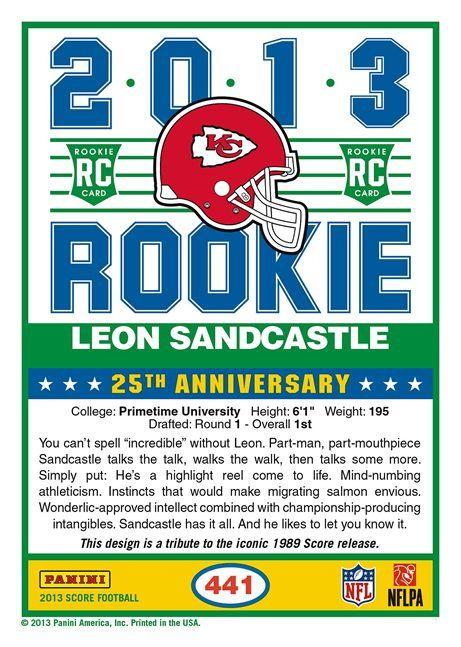 Leon Sandcastle football card