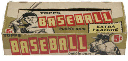 1961 Topps baseball box