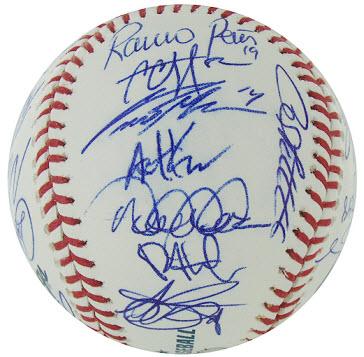 Yankees autographed baseball