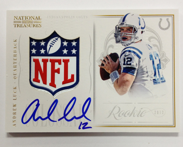 National Treasures Andrew Luck autograph
