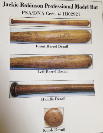 Game used Jackie Robinson bat
