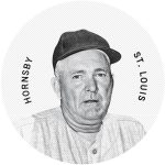 Colgans Disc Rogers Hornsby 2013 Panini Cooperstown