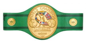 Boxing chamionship belt Larry Holmes