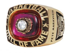 Basketball Hall of Fame ring Pete Maravich