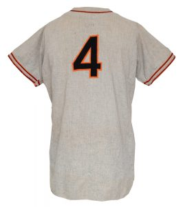 Giants game worn jersey Mel Ott 1947