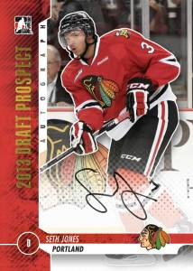 Seth Jones In the Game Draft Prospects autograph