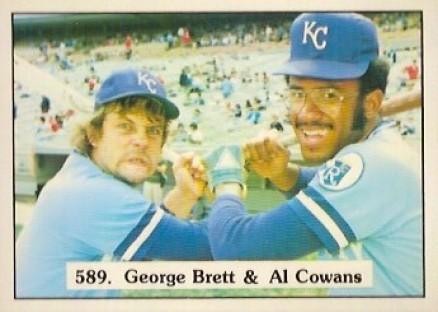 1975 George Brett Al Cowens checklist