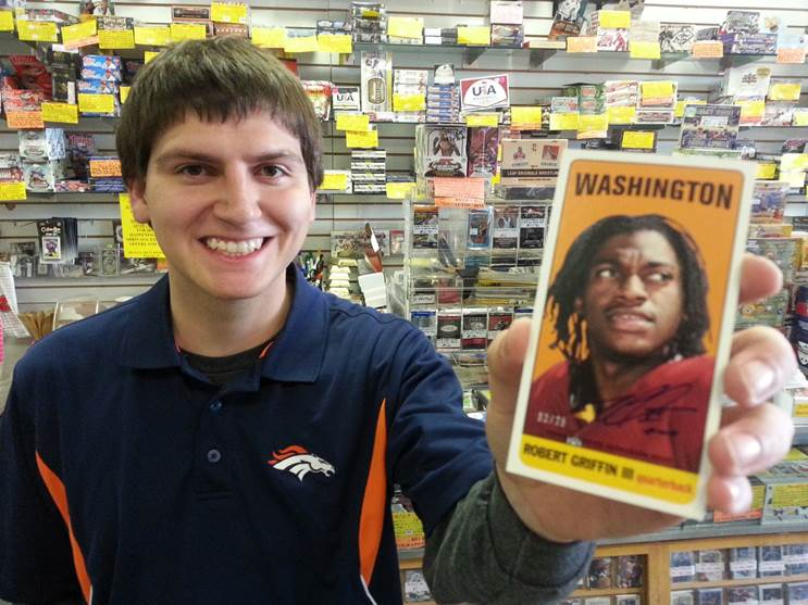 Topps 2013 Archives RG III autograph
