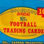 Unopened cello pack 1966 Philadelphia Gum football