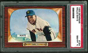 Willie Mays 1955 Bowman baseball card