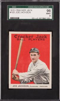 Joe Jackson 1915 Cracker Jack SGC 96