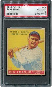 PSA 8 1933 Goudey Ruth