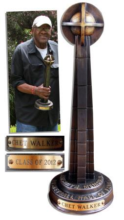 Basketball Hall of Fame Trophy Chet Walker
