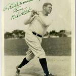 Batting photo Babe Ruth autograph