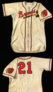 Game worn Boston Braves jersey Warren Spahn