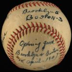 Game used Jackie Robinson debut ball 1947
