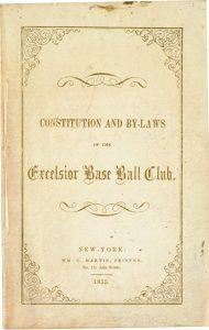 Brooklyn Excelsior Baseball Club Constitution