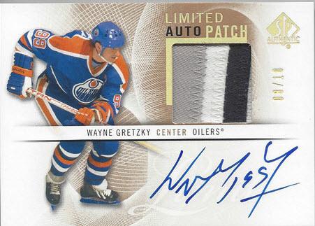 Gretzky patch auto 2013 SP Authentic