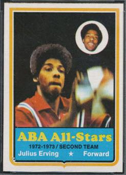 Julius Erving 1973-74 Topps basketball
