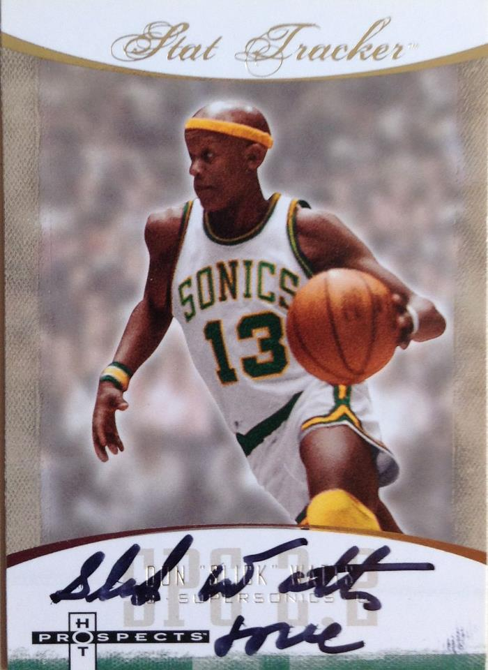Slick Watts autograph card