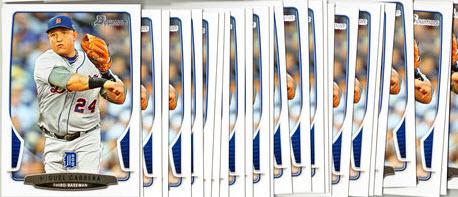 2013 Bowman Miguel Cabrera cards