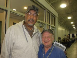 Former Pacer Mel Daniels and show promoter John Douglas.