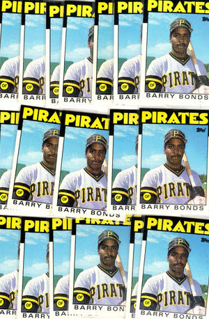 1986 Topps Traded Barry Bonds rookie cards