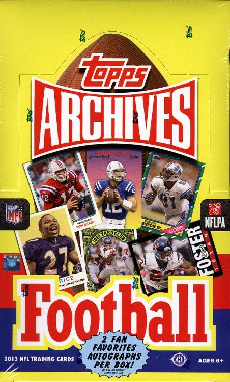 Topps Archives football box 2013