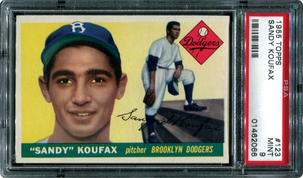 Sandy Koufax PSA 9 rookie card