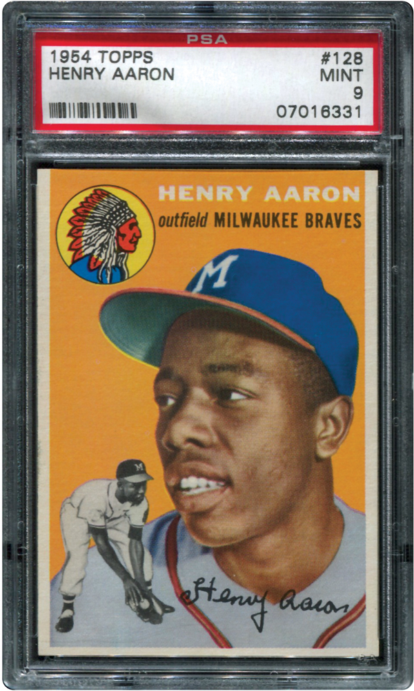 Hank Aaron rookie card PSA 9