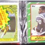 Rack pack 1986 Topps football cards