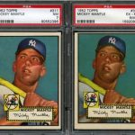 Mickey Mantle cards 1952 Topps