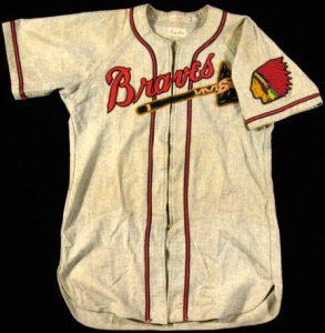 Road jersey Warren Spahn Boston Braves