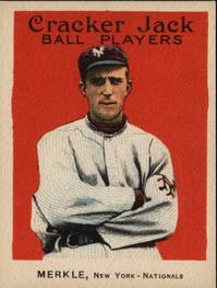 Fred Merkle 1915 Cracker Jack card