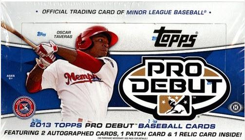2013 Topps Pro Debut Box