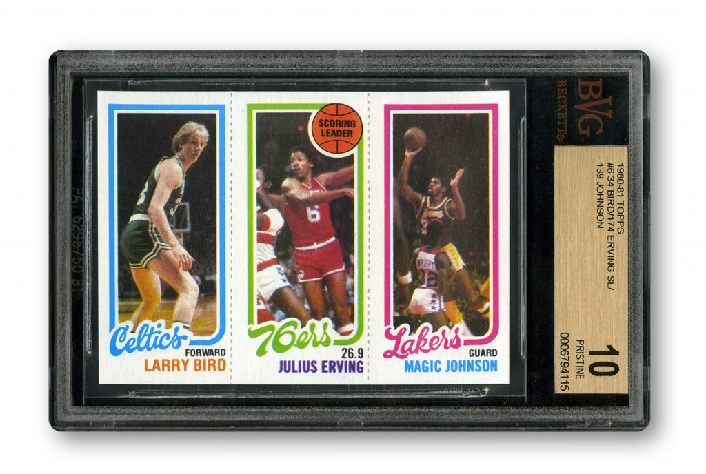 BVG 10 Larry Bird Magic Johnson rookie card