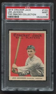 Joe Jackson mint 1915 Cracker Jack card