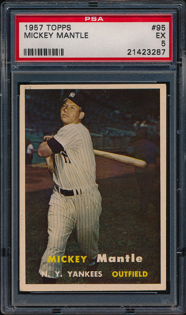 Mantle 1957 Topps card