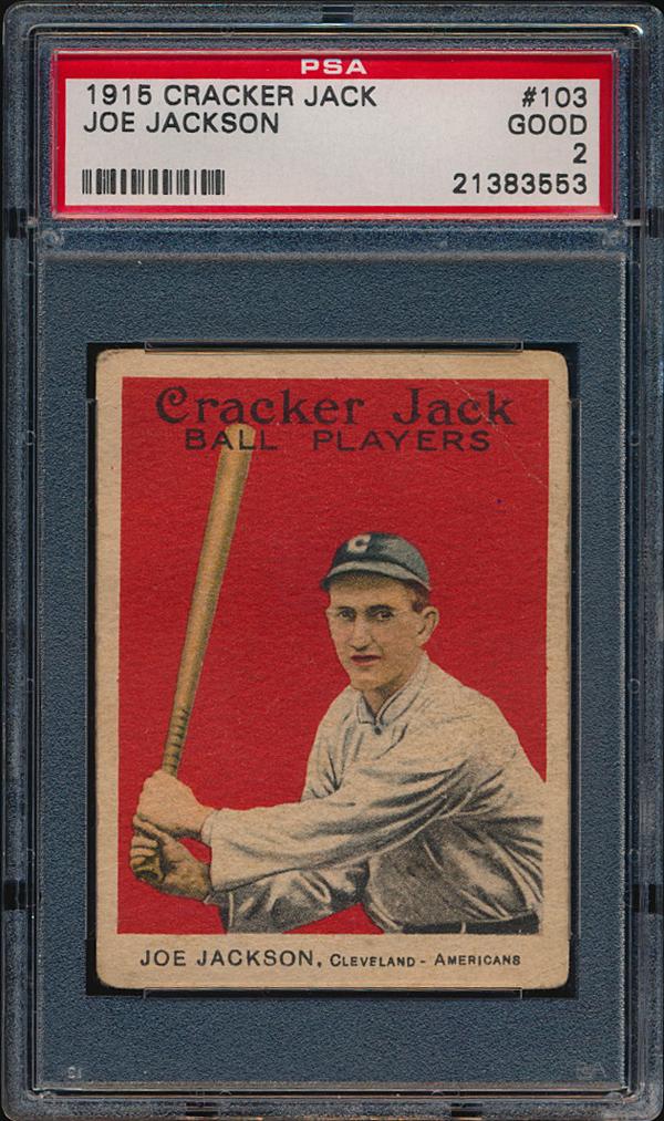 Shoeless Joe Jackson Cracker Jack 1915