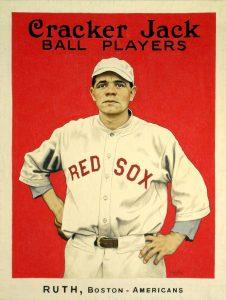 1915 Babe Ruth Cracker Jack artwork