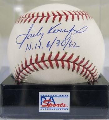 Koufax signed ball