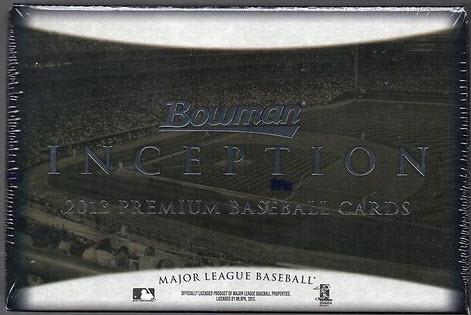 2013 Bowman Inception Baseball box
