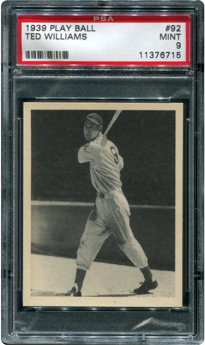 Ted Williams rookie card 1939 Play Ball